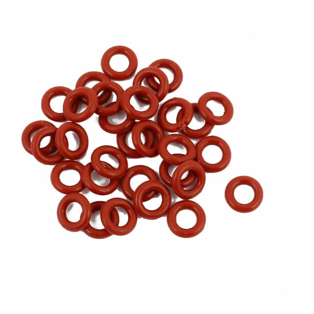 30pcs 8mmx1.9mm Heat Resistant Silicone O Ring Oil Sealing Ring Gasket Red