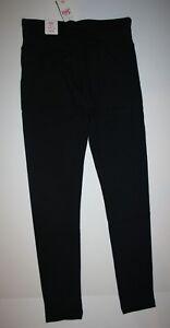 c3997b3435be6 NEW Justice Black Athletic Full Length Leggings NWT 6 7 8 10 12 14 ...