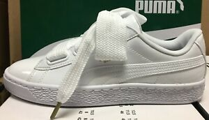 puma basket heart patent wmns