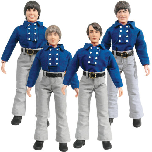 Set of all 4 Loose The Monkees 8 Inch Action Figures Blue Band Outfit