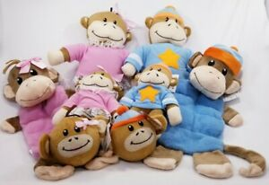 Zanies-Monkey-Business-Friends-tiff-ty-plush-squeaker-dog-toys-toy-puppy-B7-25