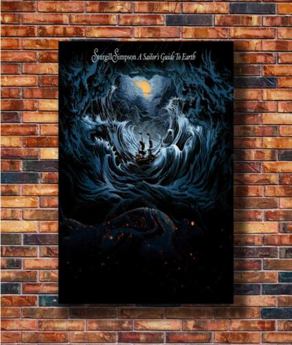 T2087 30 24x36 Silk Poster Sturgill Simpson A Sailor/'s Guide to Earth Art Print
