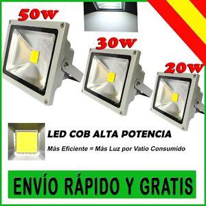 FOCO-LED-50W-30W-20W-ILUMINACION-DE-EXTERIOR-LUZ-BLANCO-FRIO-FOCOS-IP65-CALIDAD