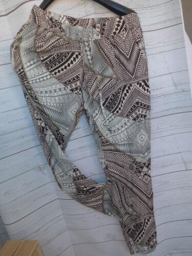 dimensioni Long 42-50 con motivo 491 Sheego Viscosa Tessuto Pantaloni Pump Pantaloni mis