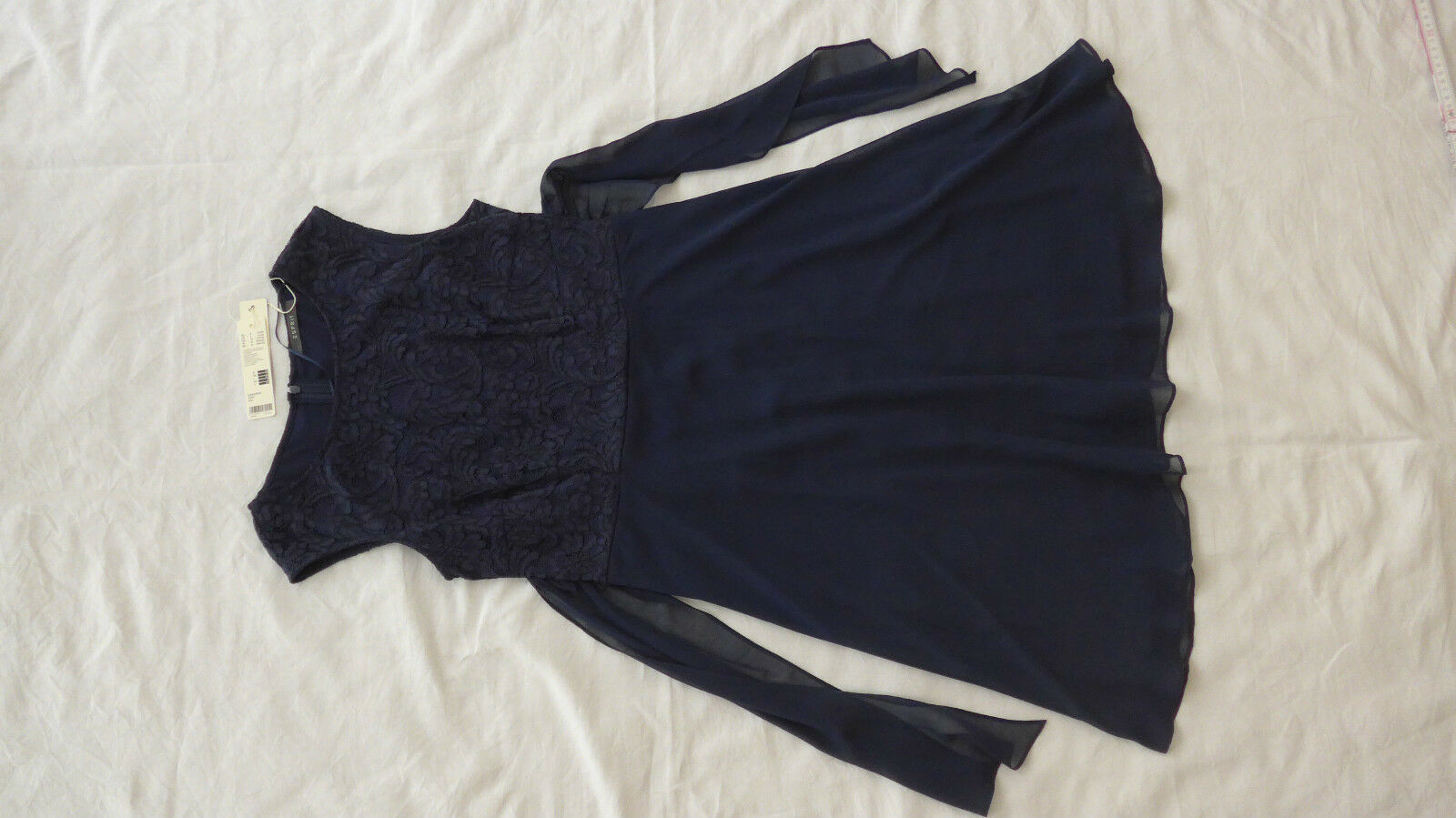 Blaues Etuikleid Etui Kleid Spitze elegant Esprit Größe 38 dunkelblau NEU