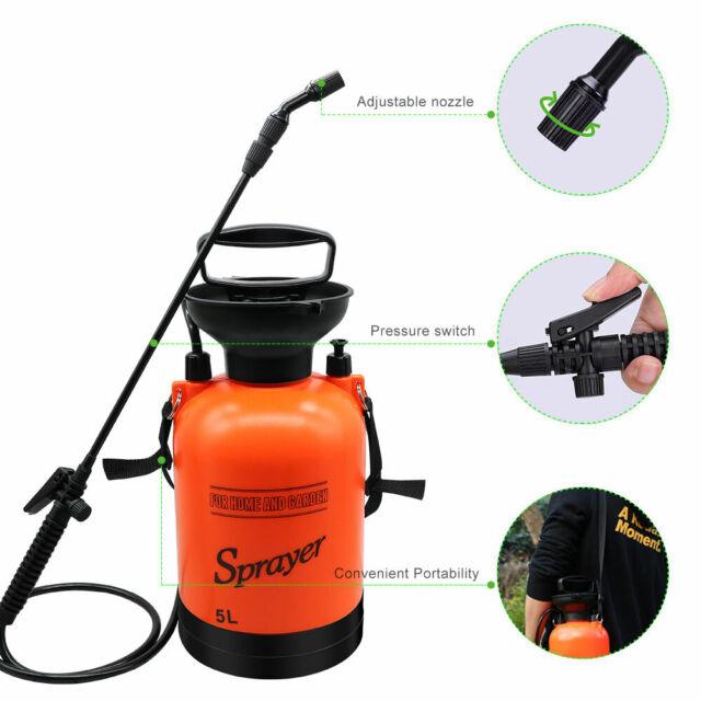 Easygo Spray Bottle 1 Liter 34 Ounces Hand Pump Pressure Sprayer