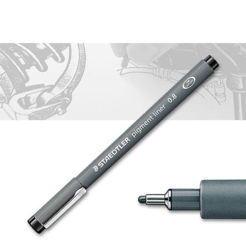 dokumentenecht schwarz Staedtler Pigment Liner 308-0,8 mm 308-08