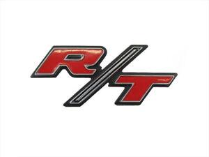 1970 Dodge Challenger Metal Red /& Chrome Plate R//T Emblem//Nameplate OEM MOPAR