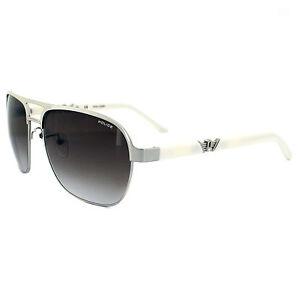 Police Gold Frame Sunglasses : Police Sunglasses Drift 4 8752 579 Light Gold & White ...