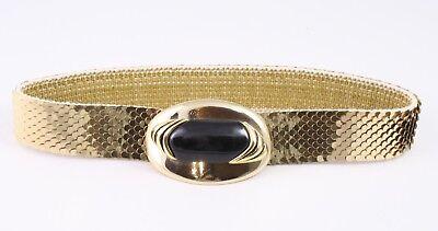 Dolce Dg93 Capannone Cintura In Vita Cintura Metallo Oro Elastici 65 - 95 Cm Vintage-mostra Il Titolo Originale Grande Liquidazione