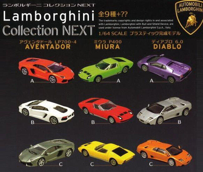 F-toys 1 64 Lamborghini Diablo Aventador Miura Collection Next Set Complet