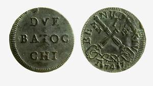 Aimable Pcc2127_12) Roma Benedetto Xiv (1740-1758) Muraiola 2 Baiocchi 1747 MatéRiaux Soigneusement SéLectionnéS