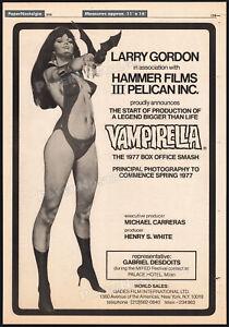 VAMPIRELLA-Orig-1976-Trade-AD-poster-unproduced-HAMMER-film-Jose-Gonzalez