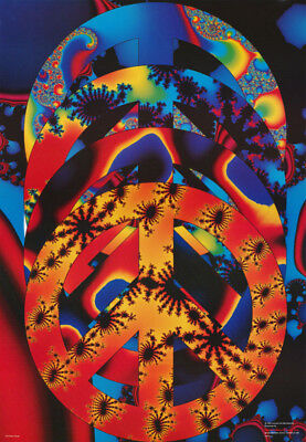 #F9  RC27 Q FREE SHIPPING PEACE QUAD POSTER PSYCHEDELIC