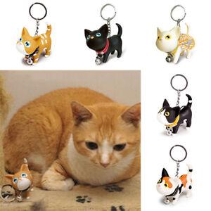 Cat-Shape-Keychain-Keyring-Car-Key-Chain-Rings-Women-Handbag-Pendant-Decor-34UK