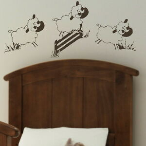 Details about Sheep Jumping Nursery Wall Transfer / Bedroom Art / Nursery  Wall Sticker nin2