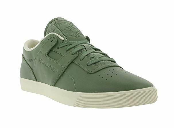 REEBOK Men's Classic Workout Low Clean FVS Lux LEATHER Green Trainer