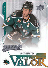 08-09 UPPER DECK MVP MARKED BY VALOR #MV3 JOE THORNTON SHARKS *8198
