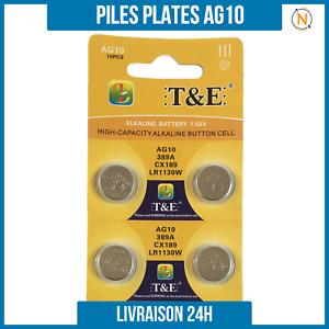 Piles-Plate-bouton-1-5V-Alcaline-AG10-LR1130-0-Mercure