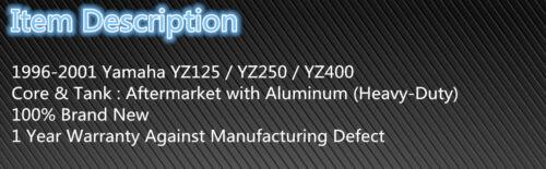 Aluminum Radiator Fit For 1996-2001 Yamaha YZ125  YZ 125 1997 1998 1999 2000