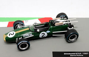 Formule-1-voiture-collection-Brabham-BT24-1967-Denis-Hulme-1-43-Modele-F1-Comme-neuf
