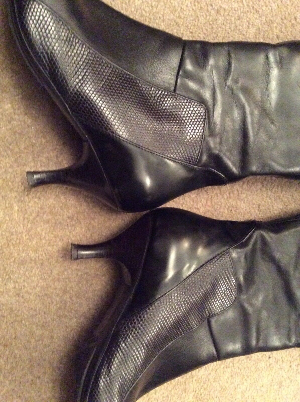 free shipping 69c26 d10a9 ... Bottes noires-RUSSELL       BROMLEY-Taille 37 4-Chaton Talons Noir ...
