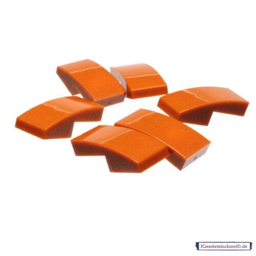 LEGO Bau- & Konstruktionsspielzeug 11477 LEGO®  6x Schrägstein 1x2x2/3 gerundet dunkelorange 6186009