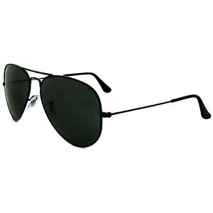 5e34c9ead0 Ray-Ban Sunglasses Aviator 3025 L2823 Black Green G-15 Medium 58mm ...