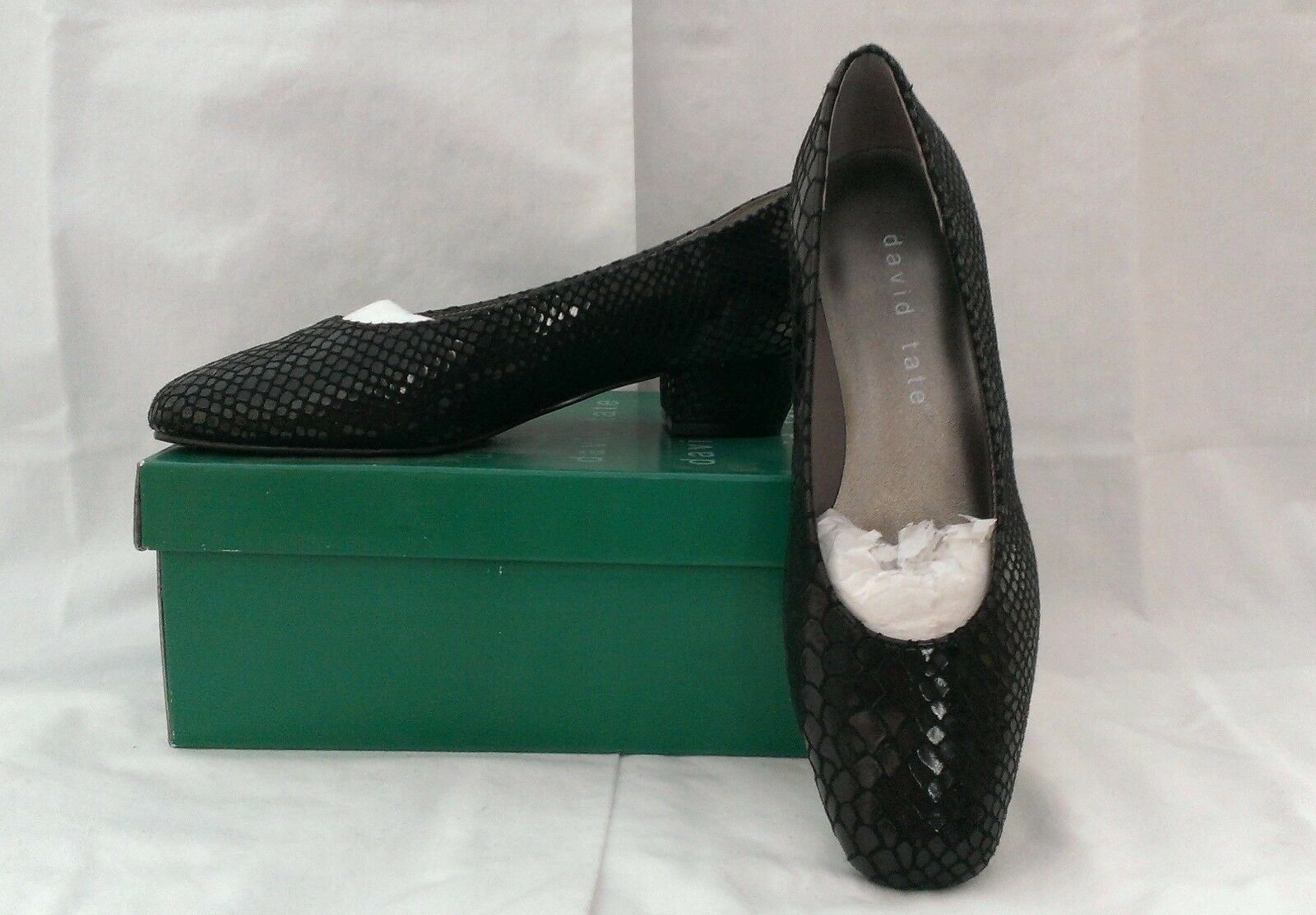 DAVID TATE Print LIZ Loafer Black Snake Print TATE Womens Shoes Size 6 Medium MSRP $70 NWB 6d464c