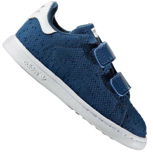 best website f56ae 16c2b ADIDAS ORIGINALS STAN SMITH enfants Chaussures baskets LA Baskets Gazelle  Bleu