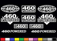 10 Decal Set 460 Ci V8 Powered Engine Stickers Emblems 7.5 L Vinyl Decals