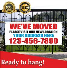 Weve Moved Banner Vinyl Mesh Banner Sign Boxes Tape Bubble Wrap Move In