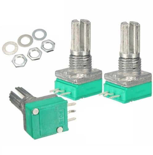 3PCS 6mm 3 pin Knurled Shaft Single Linear B Type B10K ohm Rotary Potentiometer