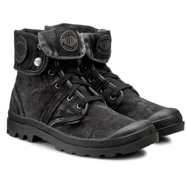 Palladium Pallabrouse Baggy Boots Shoes Men s - Black Metal 02478-069-M 59dd66901ae