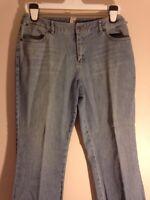 Women J. Jill Light Wash Boot Cut Jeans Sz 10 L30