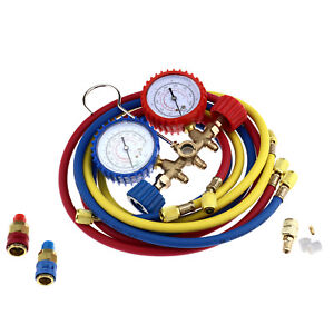 Air Conditioning Tools >> Details About Air Conditioning Manifold Gauge Tool Set A C Tester Refrigeration Diagnostic Kit
