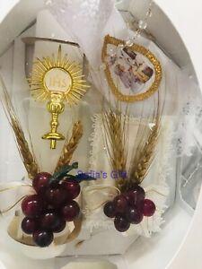 First Communion Candle Set Spanish  Girls Gift Vela Primera Comunion Velas