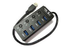 4 Fach Port USB 3.0 HUB Verteiler Adapter Kabel für PC WIN7 WIN10 MAC