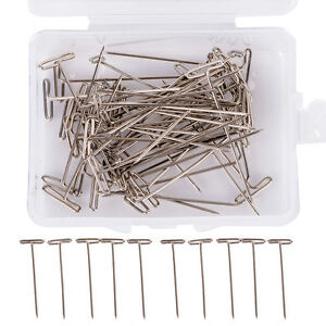 100Pcs-Metal-38mm-1-50-034-T-Pins-For-Modelling-Macrame-Wigs-Sewing-Craft-Tool
