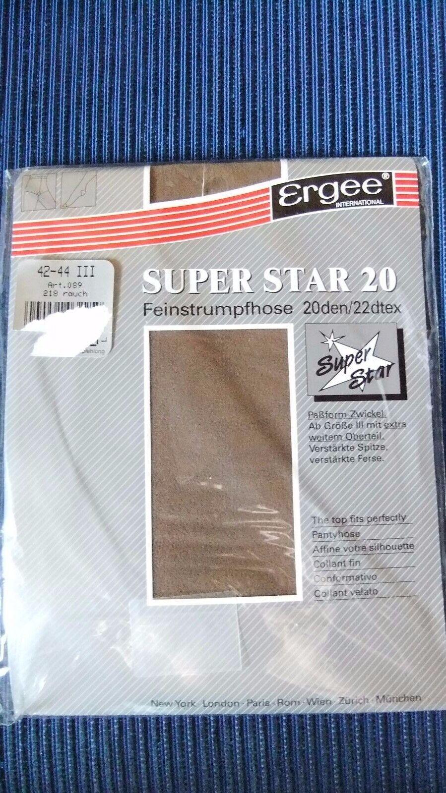 Feinstrumpfhose, super Star 20, 42-44 III, 218 Rauch