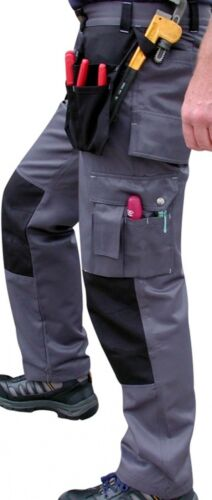 UCI tr37-Lujo Cordura Workman Work Wear Pantalones-Cartuchera Bolsillos
