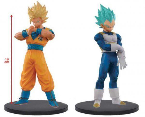 Dragon Ball Super Warriors 5 Super Saiyan 2 Goku & blu Vegeta Deluxe PVC Figure
