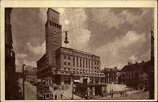 Jablonec nad Nisou Tschechien s/w AK ~1950/60 Radnice Partie am Rathaus Tram