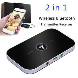 Wireless-Bluetooth-Receiver-amp-Transmitter-3-5mm-AUX-Car-TV-Stereo-Audio-Adapter