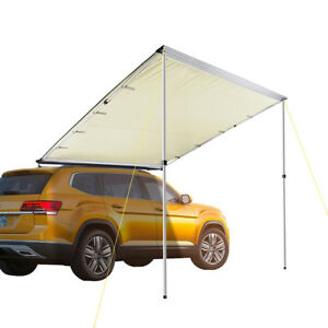 6-6x8-2-039-Car-Side-Awning-Rooftop-Tent-Sun-Shade-SUV-Outdoor-Camping-Travel-Beige