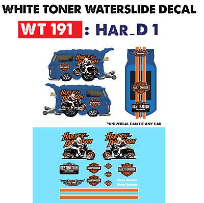 WT199 White Toner Waterslide Decals /> NISSAN LIGHT 1/>For Custom 1:64 Hot Wheels
