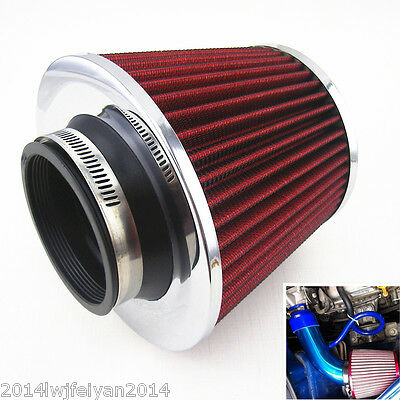 3 inch Inlet Auto Cold Air Intake Air Filter Round Cone Filter Universal 7.5cm