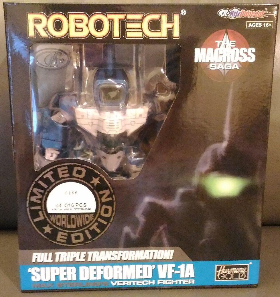ROBOTECH MACROSS SD SUPER DEFORMERAD VF-1A MAX STERLUNG OCH FAST Pack KITZ Concept