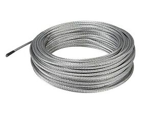 100 feet Galvanized Steel WIRE ROPE 3mm Aircraft Grade CABLE 1540 ...