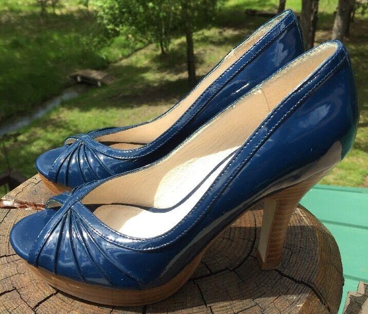 Steve Madden Women's  Pawla  bluee Heeled Peep Toe shoes Size 6M US